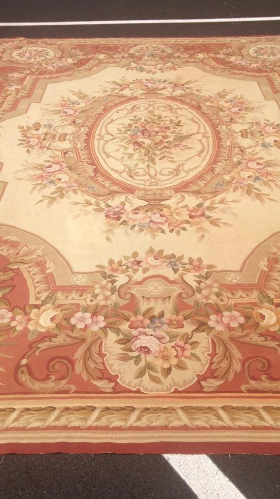 Large Aubusson Hand Knotted Carpet - 5