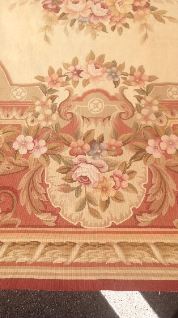 Large Aubusson Hand Knotted Carpet - 6