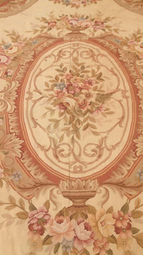 Large Aubusson Hand Knotted Carpet - 7