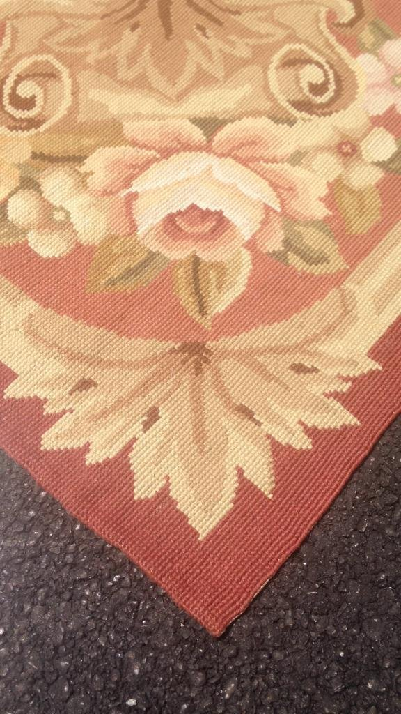 Large Aubusson Hand Knotted Carpet - 8