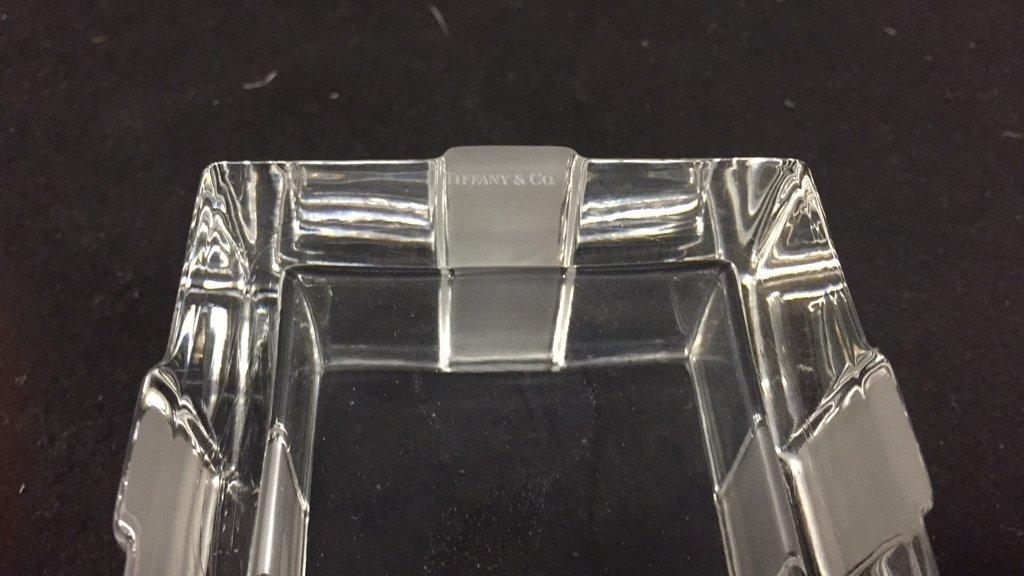 TIFFANY & CO Crystal Jewlelry Box w Bow - 5