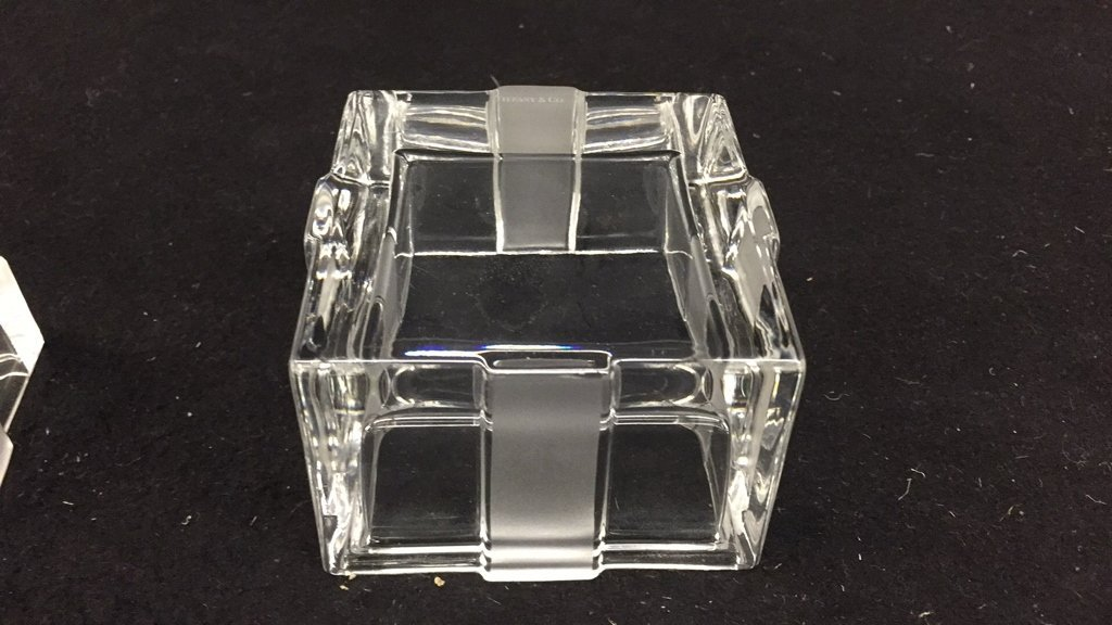 TIFFANY & CO Crystal Jewlelry Box w Bow - 6
