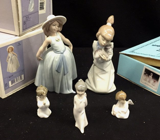 Group Lot of Five LLADRO Figures