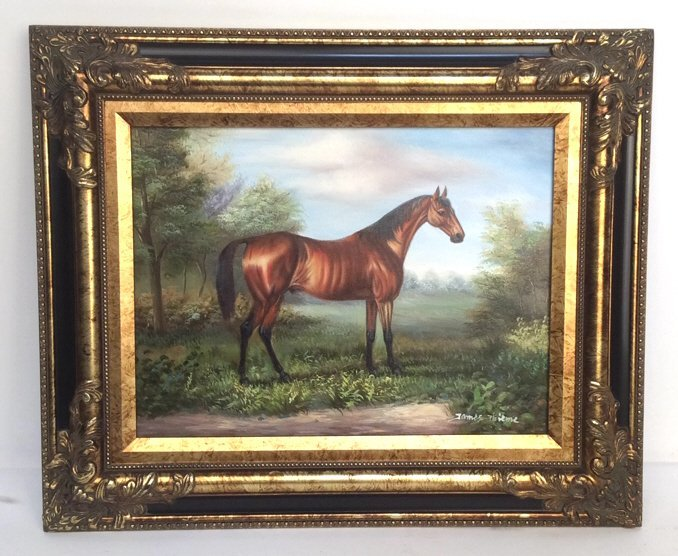 JAMES THIEME Signed Oil on Canvas