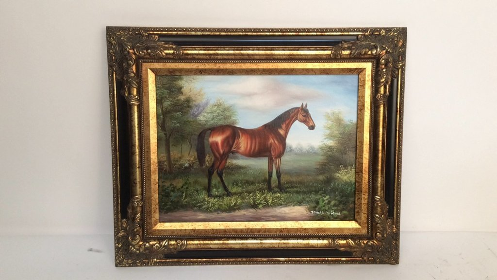 JAMES THIEME Signed Oil on Canvas - 2