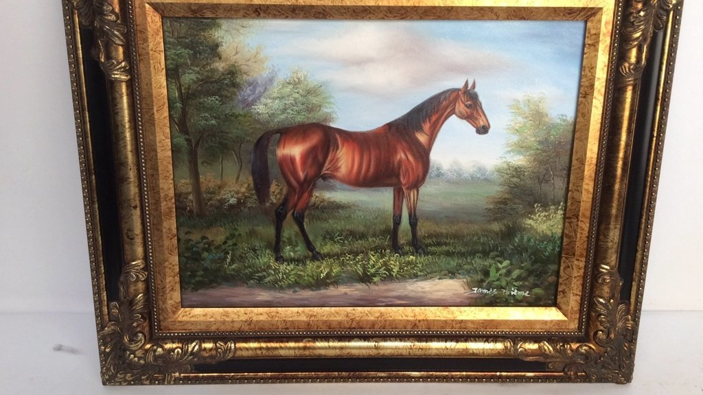 JAMES THIEME Signed Oil on Canvas - 4