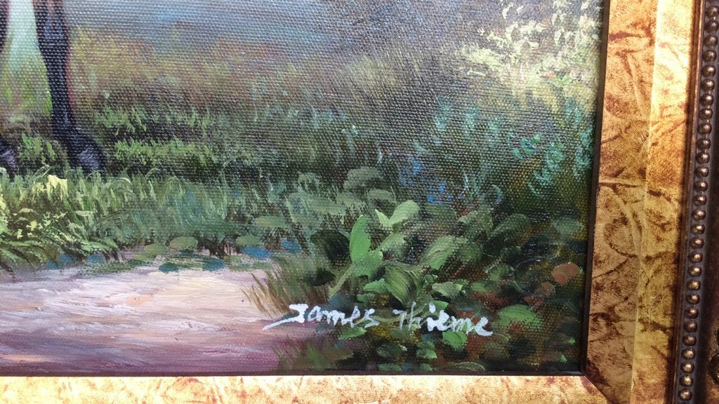 JAMES THIEME Signed Oil on Canvas - 6