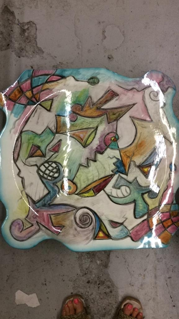 Harris Cies 1993 signed art pottery - 2