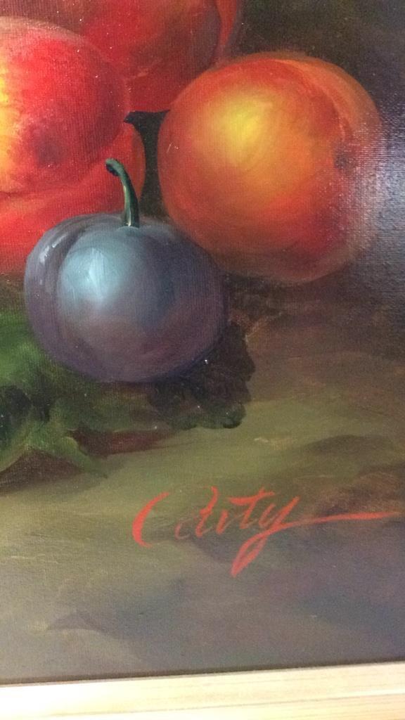 Caty  signed oil still life - 6
