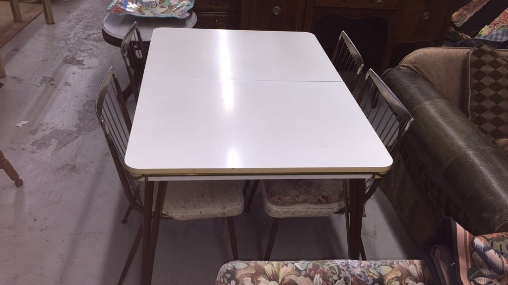 Mid Century Modern Table with 4 Chairs - 2