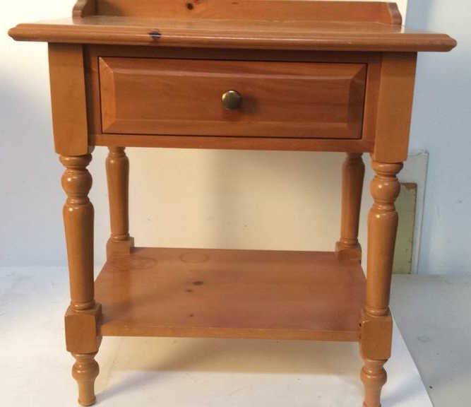 Country pine night stand - 3