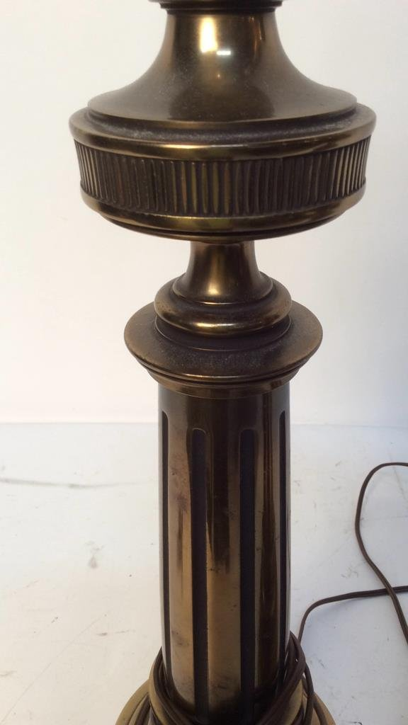 Pair Stiffel brass table lamps - 3