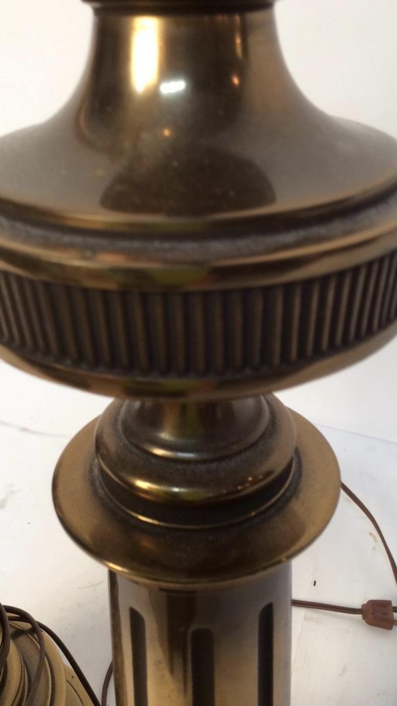 Pair Stiffel brass table lamps - 4