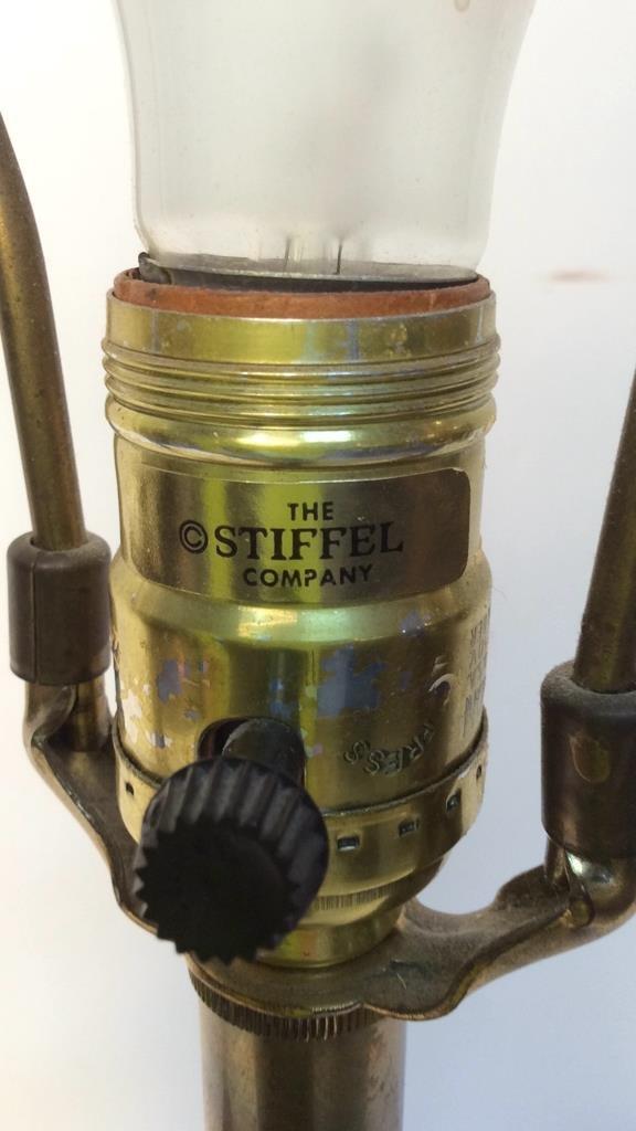 Pair Stiffel brass table lamps - 6