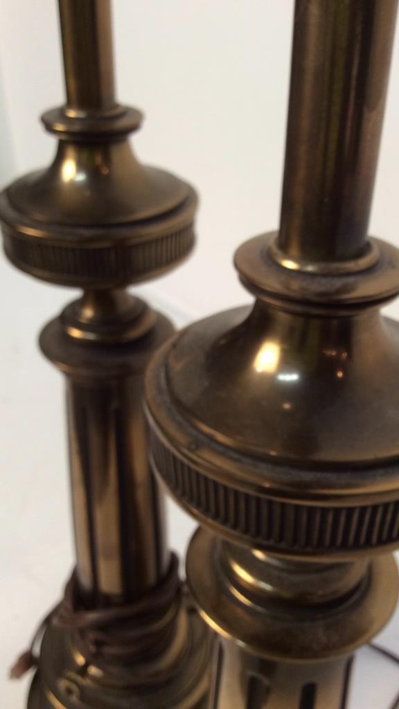 Pair Stiffel brass table lamps - 7