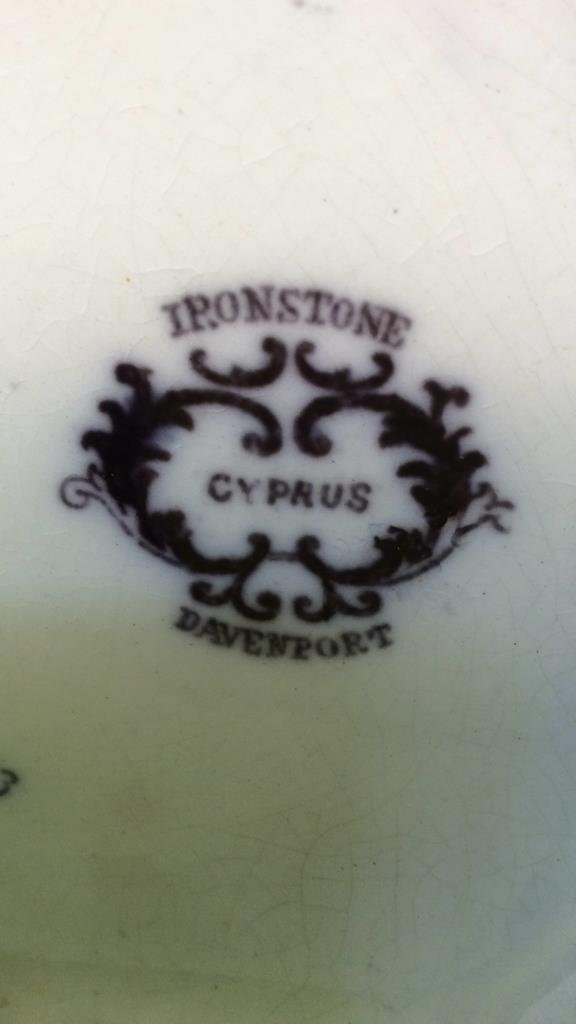 Antique Ironstone davenport picture - 7