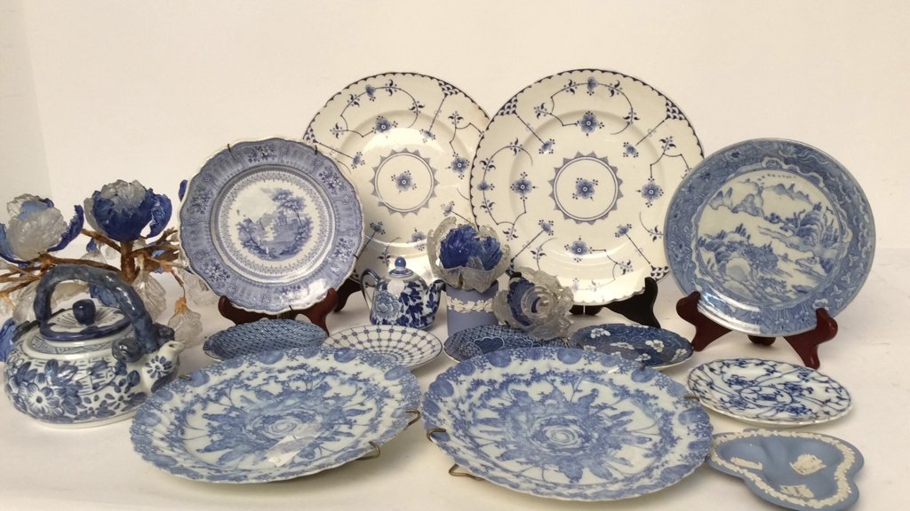 Group Lot Wedgewood, Blue and White Porcelain