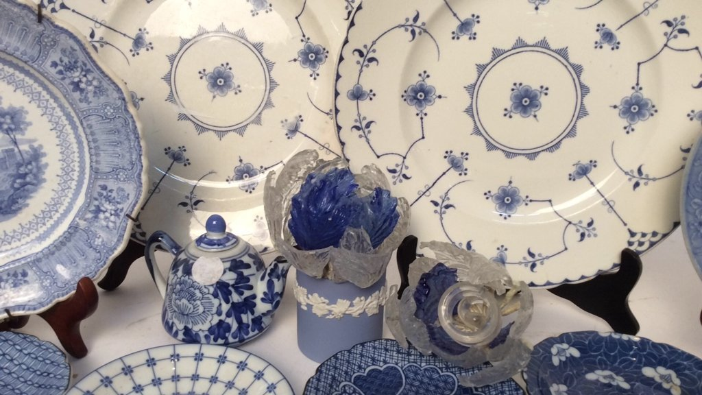 Group Lot Wedgewood, Blue and White Porcelain - 2
