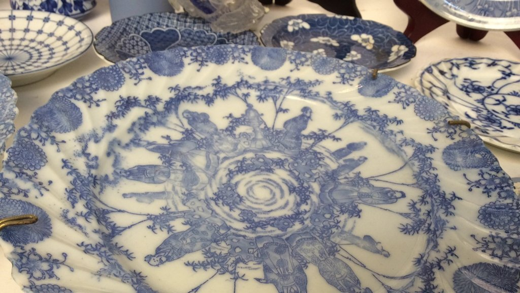 Group Lot Wedgewood, Blue and White Porcelain - 3