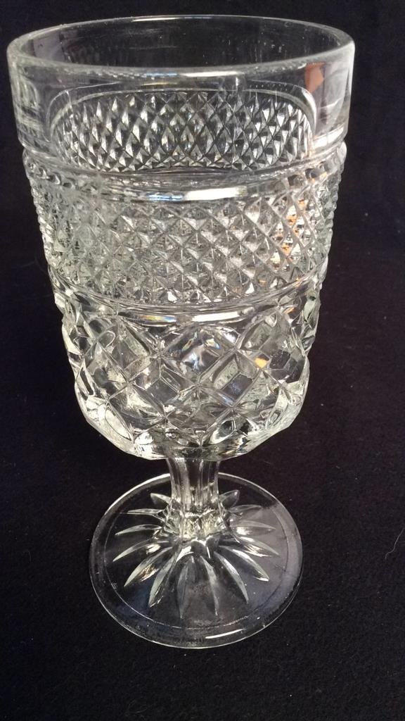 group vintage cut glass and Crystal stem and bar - 6