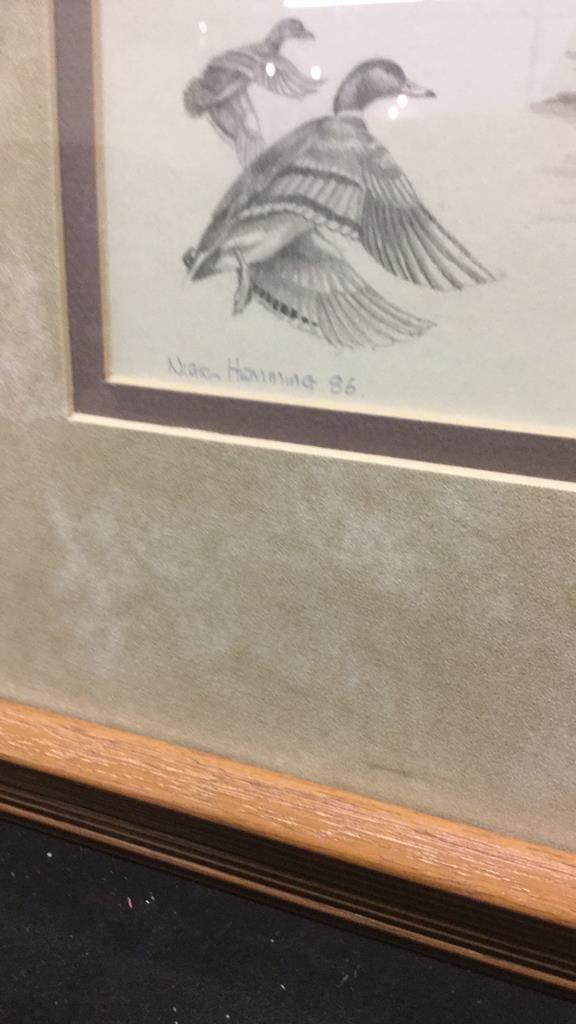 Pair of Nighh Hamming Duck Prints - 4