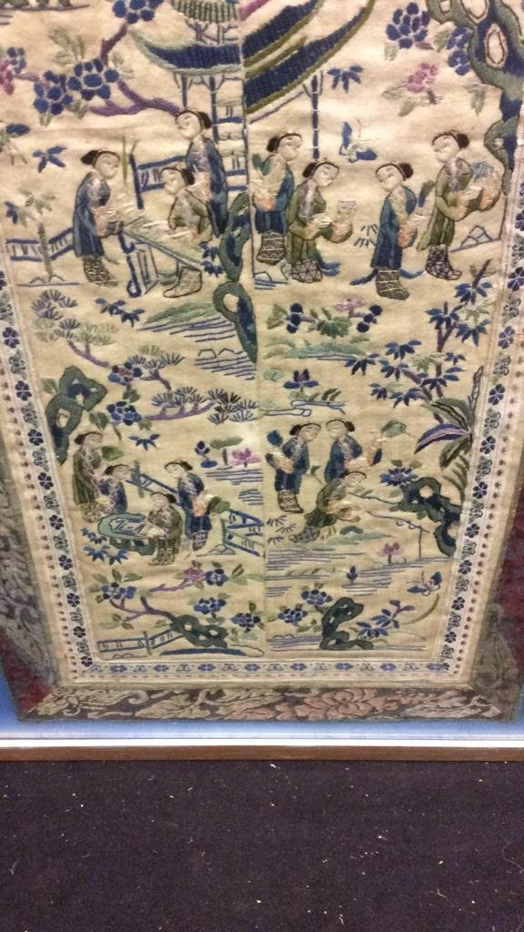 Antique East Asian Framed Tapestry - 4