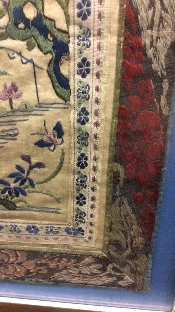 Antique East Asian Framed Tapestry - 5