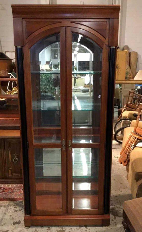 Ethan AllenMid Century Modern Glass Display Case