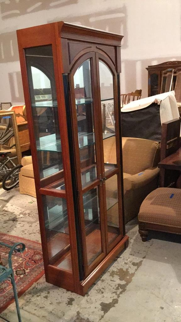 Ethan AllenMid Century Modern Glass Display Case - 4