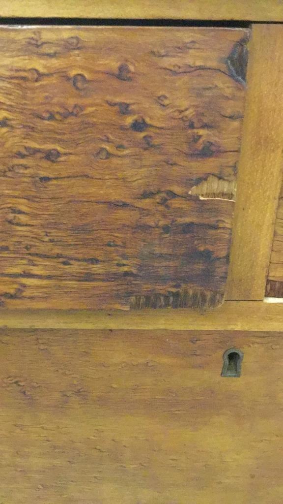 Antique Bird's Eye Maple Bow Front Dresser - 5