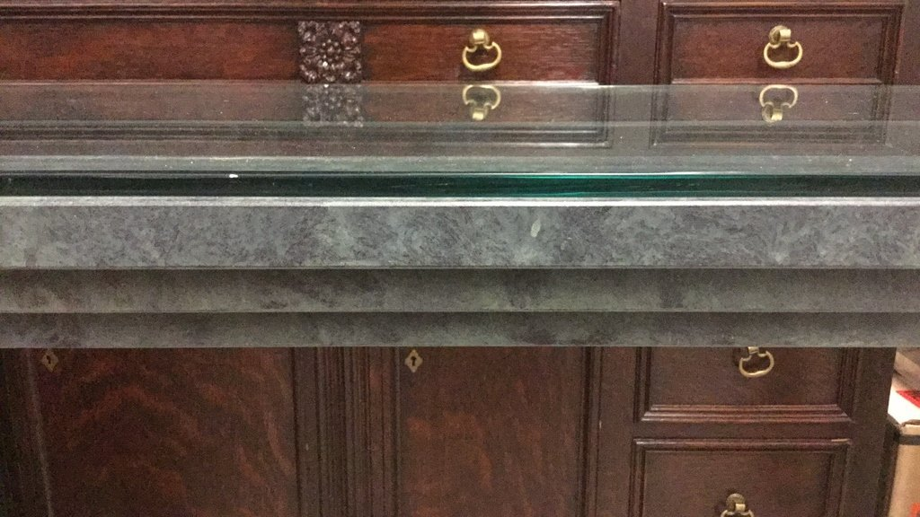 Green Metal Roman Style Console Table - 7