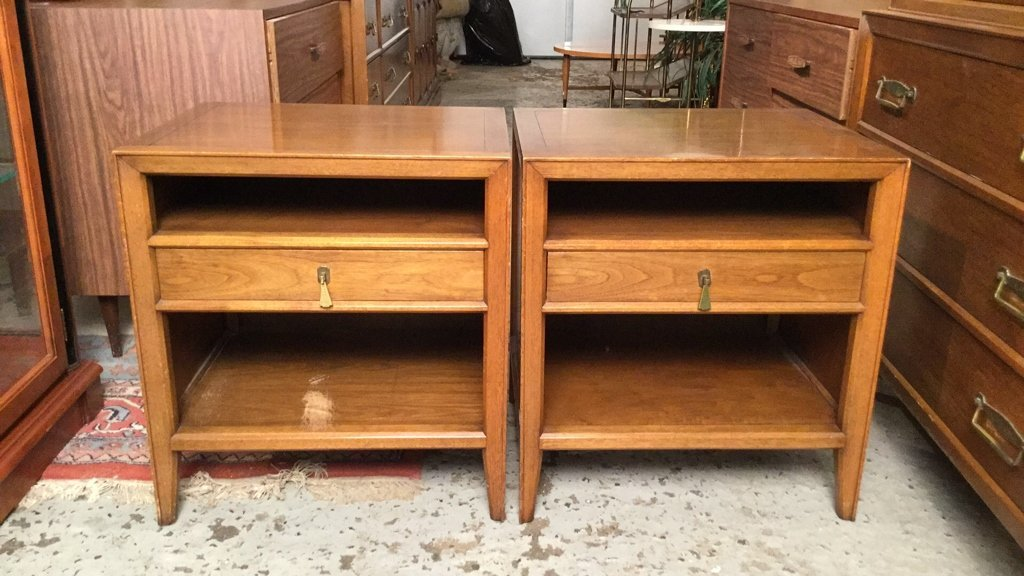 Pair Mid Century FANCHER Night Tables