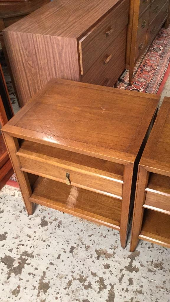 Pair Mid Century FANCHER Night Tables - 2