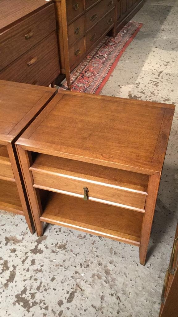 Pair Mid Century FANCHER Night Tables - 3