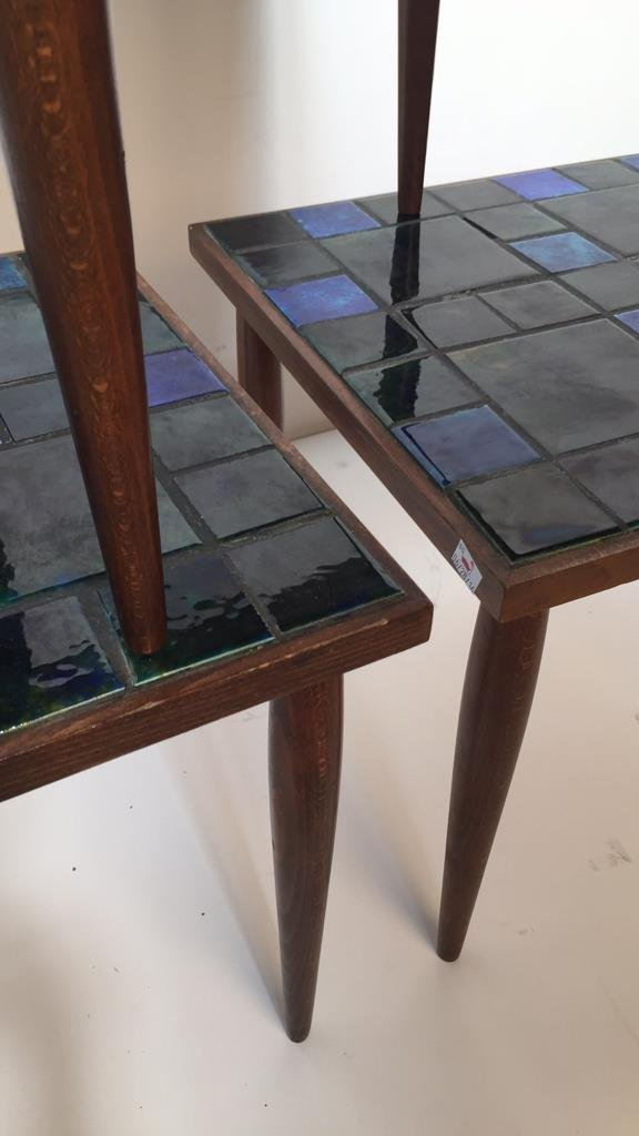 Group Lot Three Mid Century Mosaic Tables - 2
