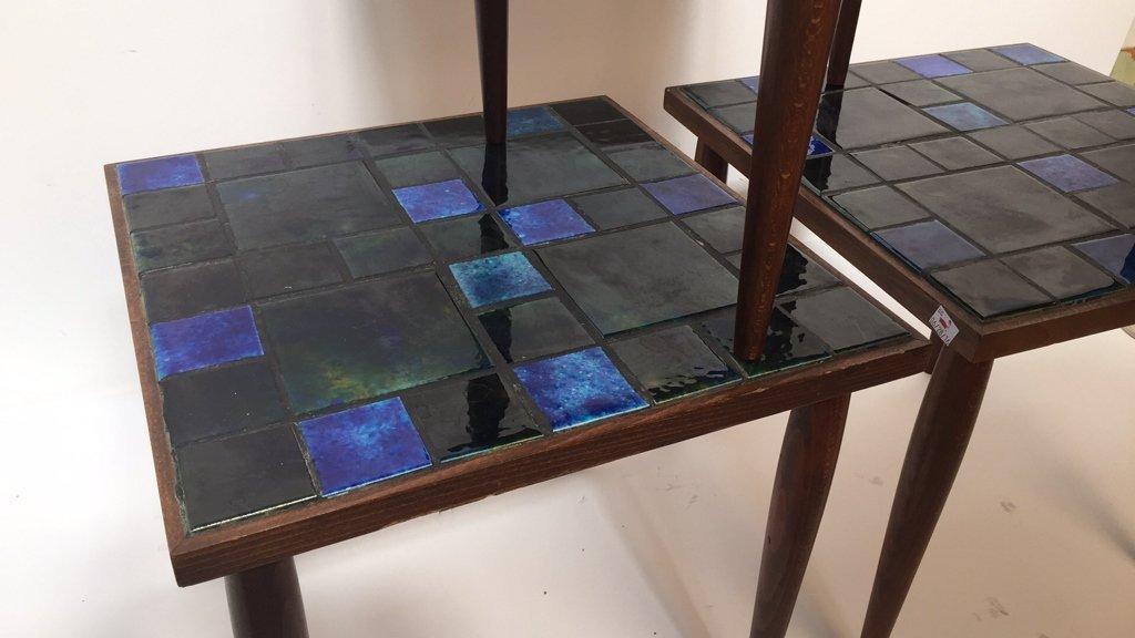 Group Lot Three Mid Century Mosaic Tables - 3