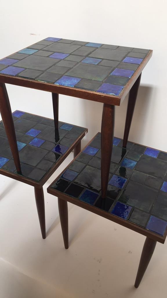Group Lot Three Mid Century Mosaic Tables - 4