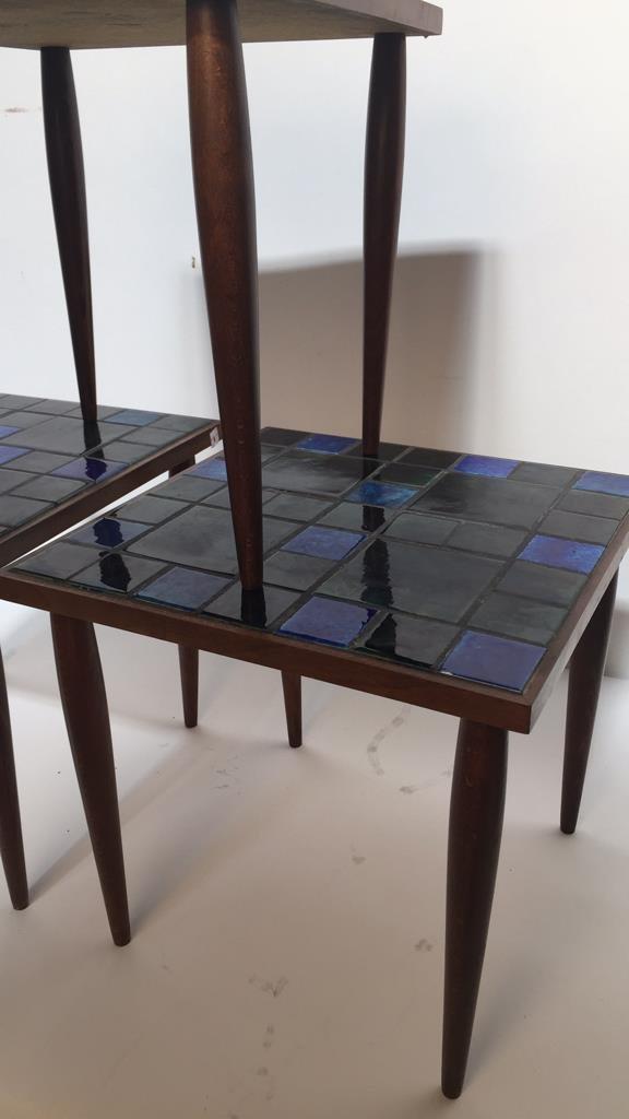 Group Lot Three Mid Century Mosaic Tables - 5