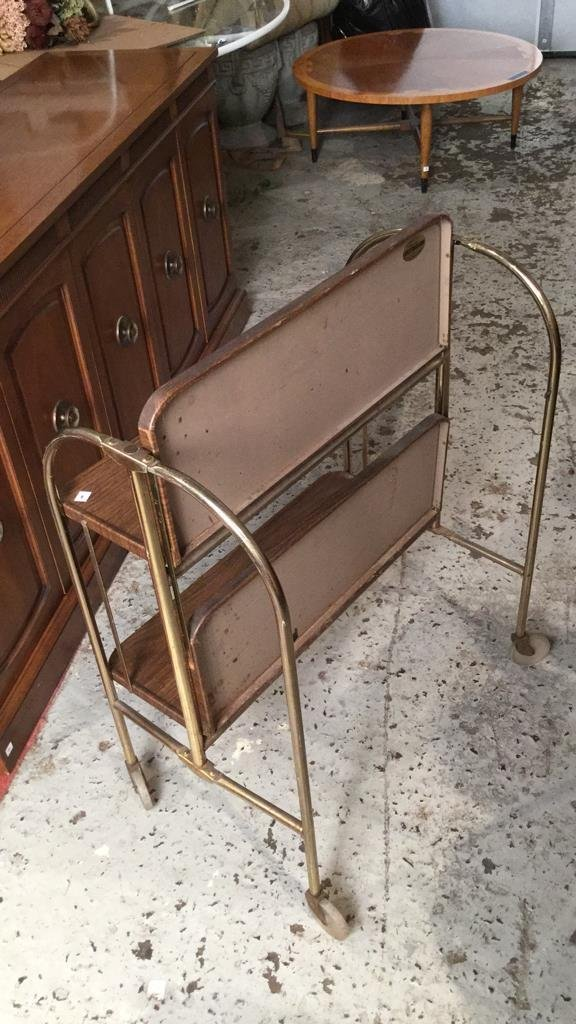 Mid Century Modern Brass Bar Cart - 5