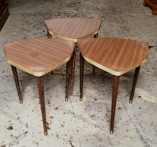 3 Matching Mini Tables Mid Century Modern
