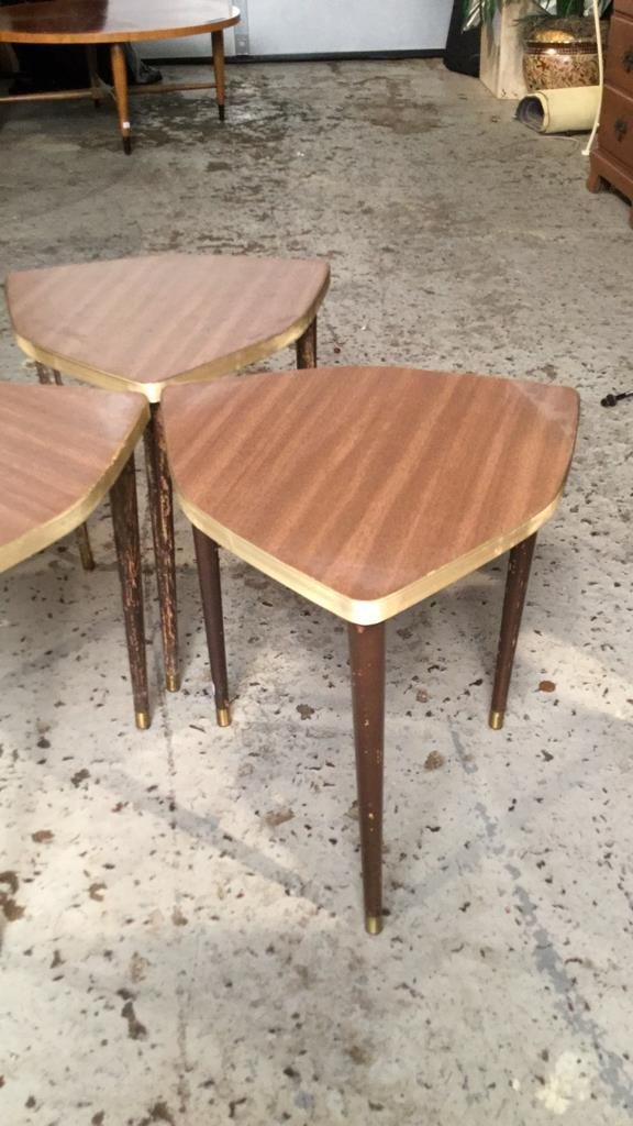 3 Matching Mini Tables Mid Century Modern - 2