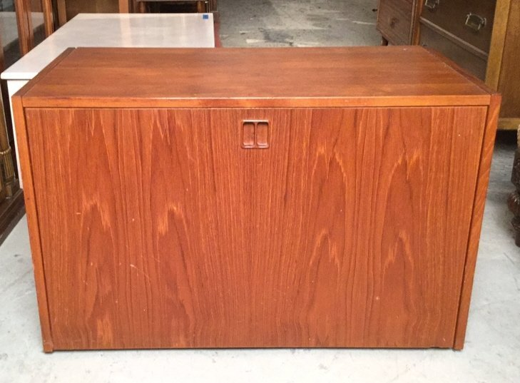 Mid Century Modern Cabinet on Casters
