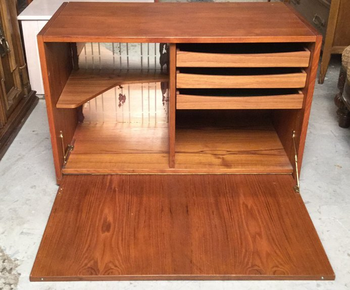 Mid Century Modern Cabinet on Casters - 2