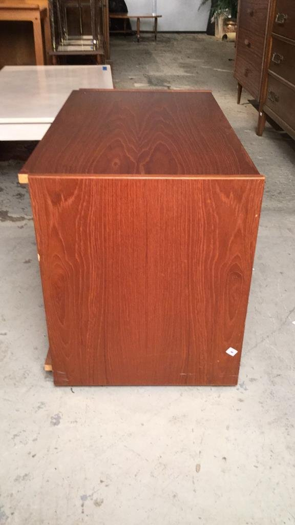 Mid Century Modern Cabinet on Casters - 5