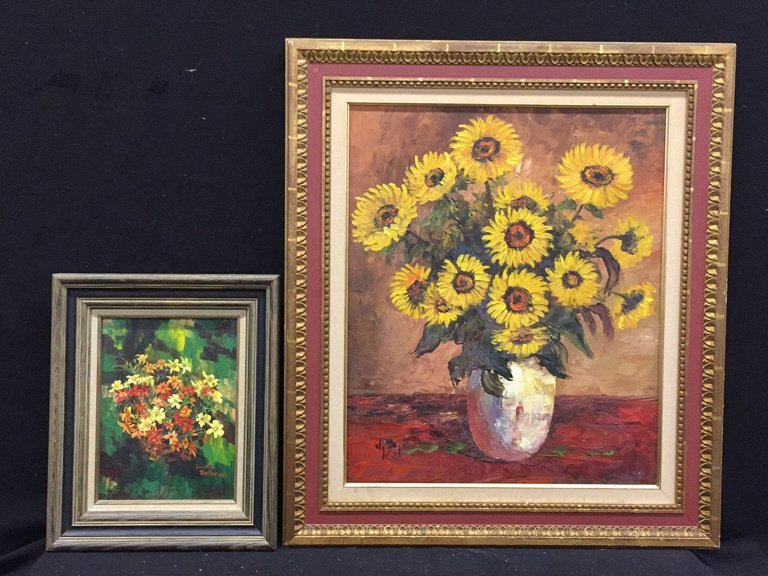 2 Piece Framed and Signed Oil Paintings