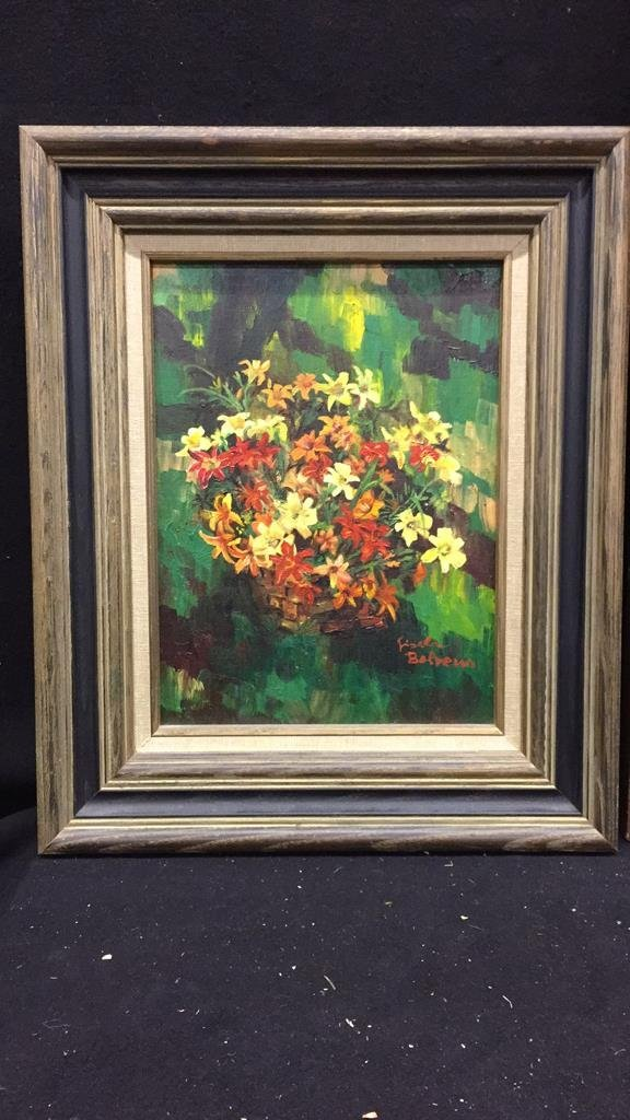 2 Piece Framed and Signed Oil Paintings - 2