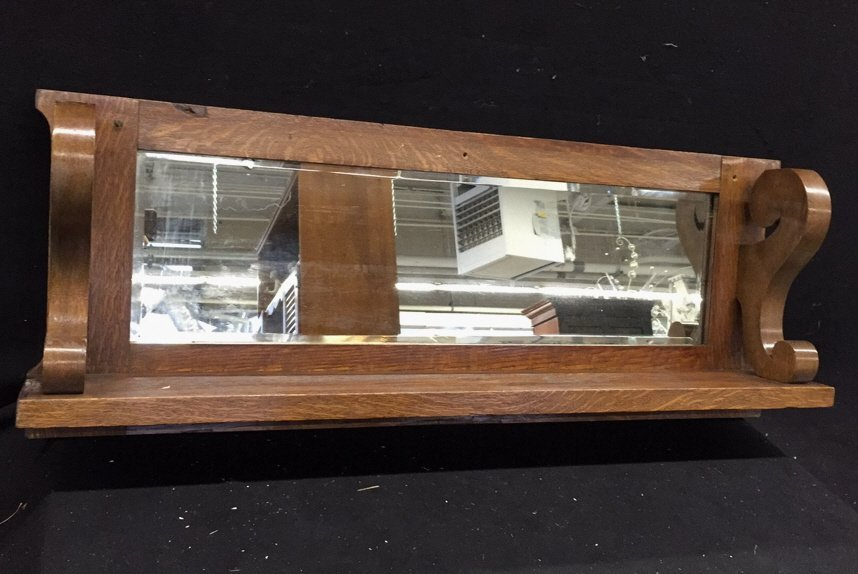 Wooden Mirrored Shelf