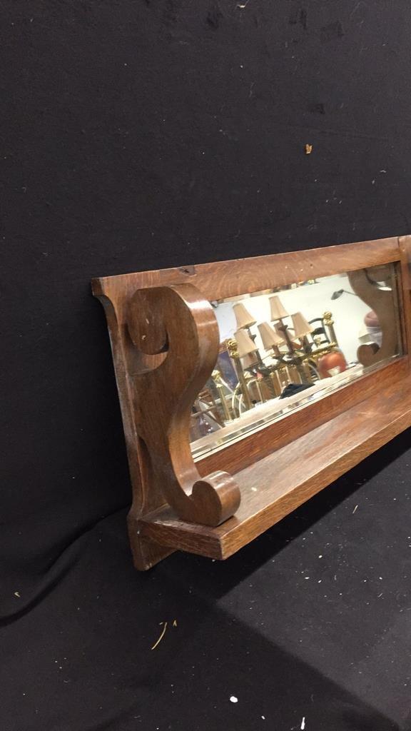 Wooden Mirrored Shelf - 2