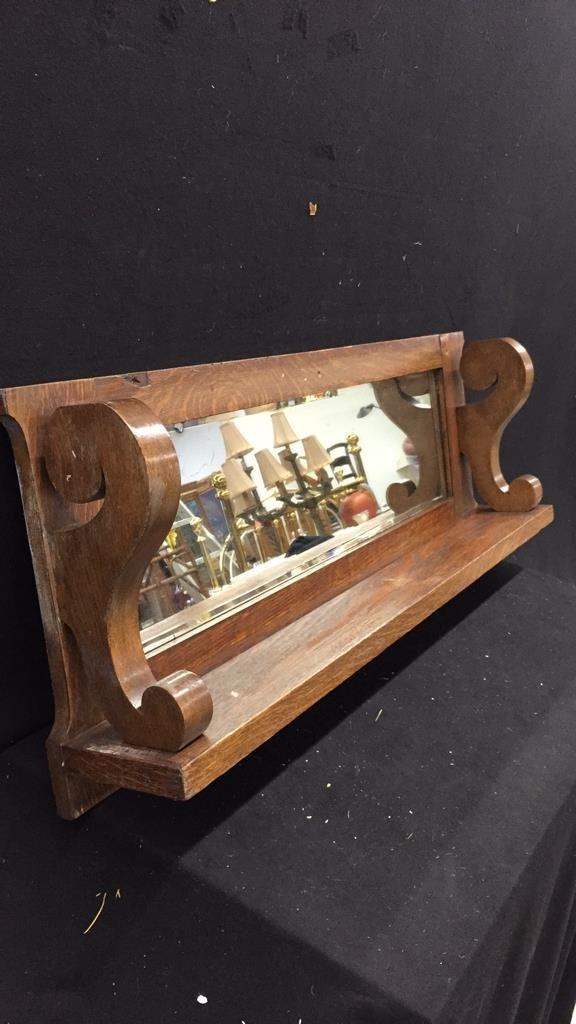 Wooden Mirrored Shelf - 3