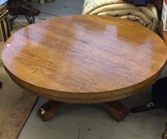 Medium Shade Wood Round coffee Table